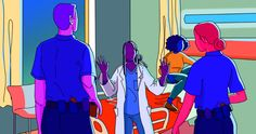 Emergency rooms are stressful even without the threat of brutality.
