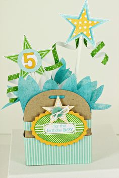 5th Birthday Gift Box by Erin Lincoln for Papertrey Ink (September 2012)