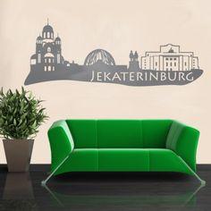 Jekaterinburg ist eine der wichtigsten Industrie- und Universitätsstadt am Uralgebirge in Russland. Wenn dir also die Stadt gefällt dann, bestell noch heute die passende Skyline. #Jekaterinburg #Skyline #Wadeco // http://www.wadeco.de/skyline-jekaterinburg-wandtattoo.html