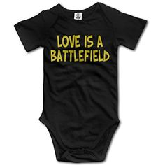 LOVE IS A BATTLEFIELD Baby Girls Bodysuit - Brought to you by Avarsha.com