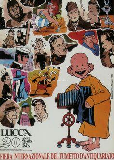 Cartolina commemorativa della Fiera Internazionale del Fumetto d'antiquariato di Lucca tenutasi nel 1986