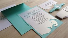 Beach Wedding Invitation - Destination Wedding Invitation - SAMPLE - on Etsy, $3.00