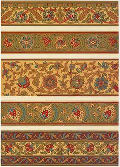 Prisse d'Avennes, L'art arabe d'après les monuments du Kaire, depuis le VIIe siècle jusqu'à la fin du XVIIe siècle, Paris, atlas en deux volumes renfermant 200 planches, 1869-1877
