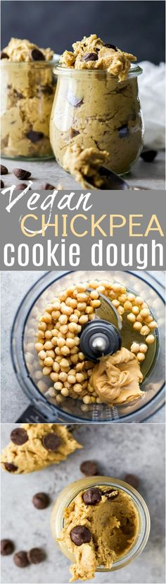 10 Most Misleading Foods That We Imagined Were Being Nutritious! Vegan Chickpea Cookie Dough Made In A Blender. A Healthy Eggless No Bake Cookie Dough Recipe To Satisfy That Sweet Tooth Gluten Free, Refined Sugar Free, Dairy Free Cookie Dough Vegan, Easy Vegan Cookies, Chickpea Cookie Dough, Chickpea Cookies, Cookie Dough Recipes, Vegan Cupcakes, Vegan Foods, Vegan Dishes, Vegan Recipes