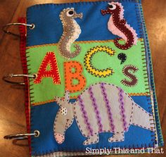 In love with this!! Felt Animal ABC's book!!
