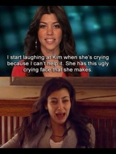 Kim Kardashian's Crying Face.... Perfect example of an ugly cry!!