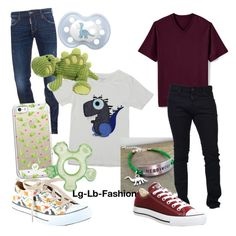 """""""Dd/lb. dinosaur"""" by lg-lb-fashion ❤ liked on Polyvore featuring Dsquared2, Casetify, Herbivore, Lands' End, Converse, men's fashion and menswear"""