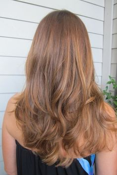 Caramel honey hair color
