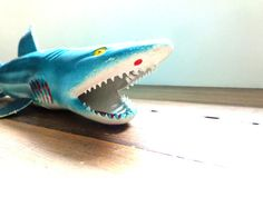 Vintage Shark Toy Made in China Sharks 14 by MidnightAcresFarm