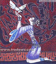 Batik Printing of the Miao Ethnic Minority.
