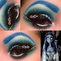 Corpse Bride Makeup Halloween Corpse Bride Makeup, Corpse Bride Costume, Halloween Make Up, Halloween Face Makeup, Halloween Ideas, Up Costumes, Costume Ideas, Sugar Skull Makeup, Costume Makeup