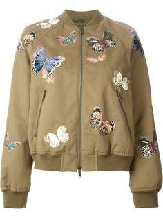 Valentino Veste Bomber Brodée Papillons - Stefania Mode - Farfetch.com