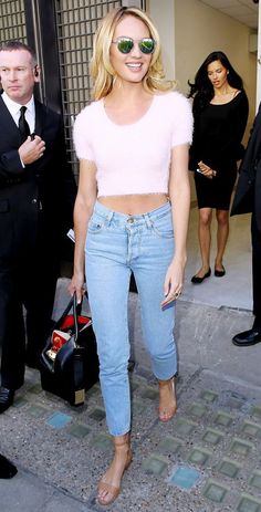 Candice Swanepoel is a 90's style guru.