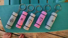 NEW Yoga mat keychain designs!! Only $5.25 on Etsy!