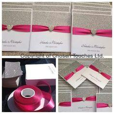 Fushia wedding Cards