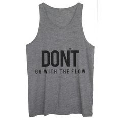 Tank top Unisex Flow Grey ($45) ❤ liked on Polyvore