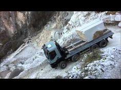 Dangerous Work Of Rock Transporting Cave, Transportation, Modern, Wheels, Trucks, Youtube, Truck, Impressionism, Italy