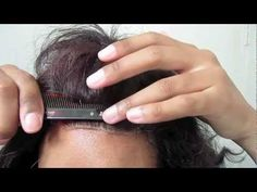 DETAILED NATURAL LACE CLOSURE how to: installing a natural looking Lace closure and tweezing method - YouTube