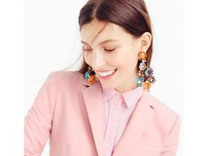 Could these colorful J. Crew statement earrings be any more perfect?