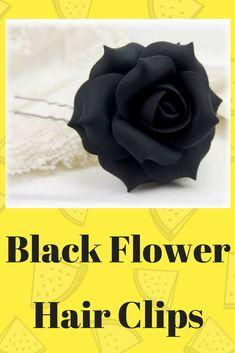 """4.5/"""" Bright Blue White Polka Dot Gerbera Daisy Silk Artificial Flower Hair Clip"""