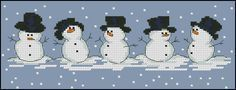 "Free cross-stitch pattern ""Snowmen"""
