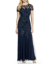 e623c0998b08 Adrianna Papell Petite Floral Beaded Gown Image Dress For Petite Women