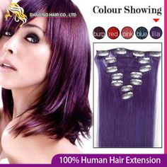 20inch Remy Human Hair Extensions Clips in Hair Color #Lila 70g/pc Full Head 7pcs 100% Natural Virgin Women's Hair Free Shipping $27.99
