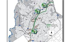 A newly planned 26-mile bike trail called The Cross Charlotte Trail will stretch from South Carolina, through Pineville and Uptown Charlotte, then up to UN
