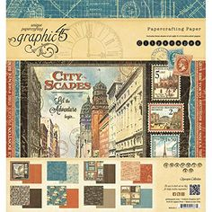 Graphic 45 Cityscapes Pad 8 x 8 >>> Click image for more details.Note:It is affiliate link to Amazon. #ScrapBooking