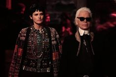 Karl Lagerfeld and Stella Tennant