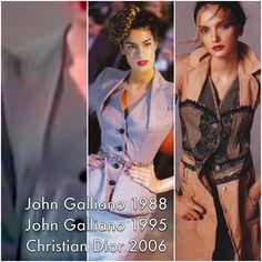 John Galliano 1988 John Galliano 1995 Christian Dior 2006