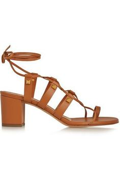 Rockstud leather sandals love these!! #shoes #covetme #valentino