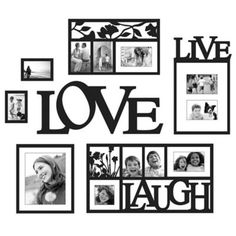 Wallverbs™ Live, Love, Laugh 7-Piece Frames and Plaque Set - BedBathandBeyond.com