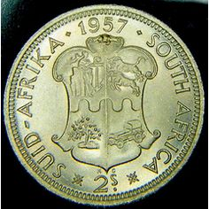 1957 two SHILLINGS UNC @@  RARE IN ANY GRADE.@@ LOOK @@ for R199.00