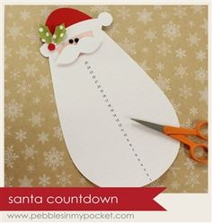 Santa Countdown from Pebbles