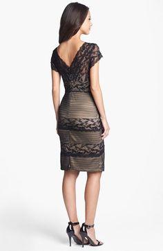 MARINA Mixed Lace Sheath Dress | Nordstrom