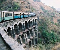 The heritage Himalayan small gauge train Shimla - Kalka... The Kalka–Shimla Railway is a 2 ft 6 in (762 mm) narrow gauge railway in North-West India travelling along a mostly mountainous route from Kalka to Shimla. It is known for breathtaking views of the hills and surrounding villages.