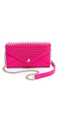 rebecca minkoff bag on a chain with studs