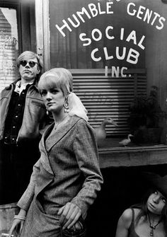 Andy Warhol and Ingrid Superstar photographed by Larry Fink.