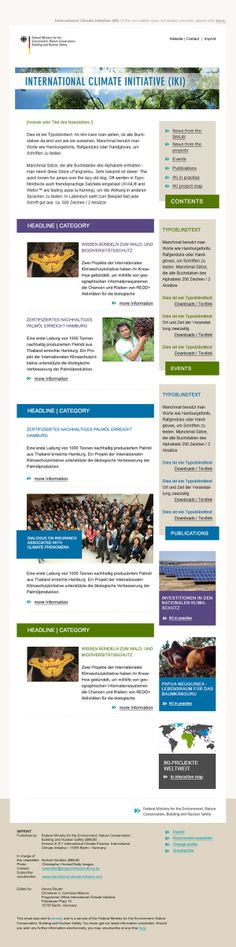 Newsletter-Design für die Internationale Klimaschutzinitiative (IKI) #Newsletterdesign #Email #Emailmarketing