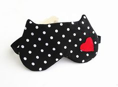 Valentine Gifts for Her  Heart Eye mask Sleep mask by BowFantasy