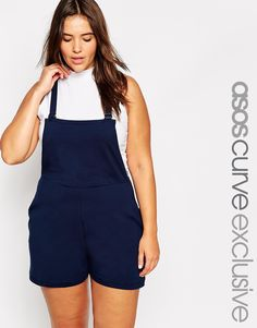 ASOS CURVE Dungaree Playsuit
