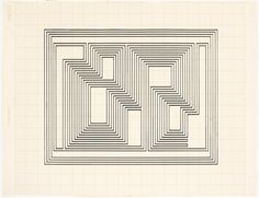 Study for Graphic Tectonic, c 1942. Photograph: Josef and Anni Albers Foundation/Artists Rights Society/Dacs