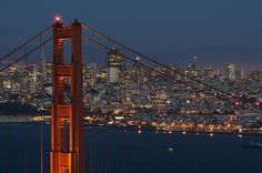 The Golden Gate and the SF Cityscape by Andrionni Ribo