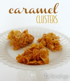 Soft and chewy caramel clusters