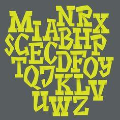 Handwritten alphabet. Typography