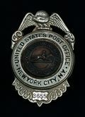 Postal Supervisor badge from early 20th century.  Book Two, www.cindyswriting.com