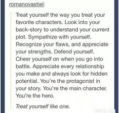 You are your own main character