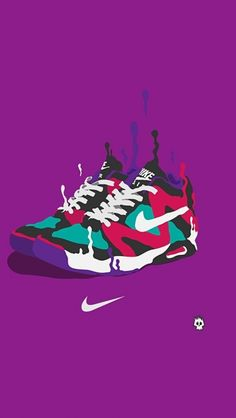 ↑↑TAP AND GET THE FREE APP! Art Creative Nike Just Do It Logo Sneakers Multicolor HD iPhone Wallpaper