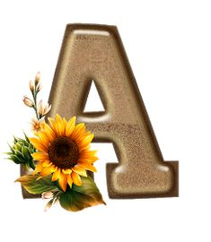 Decorative Alphabet Letters, Alphabet And Numbers, Monogram Letters, Sunflower Pictures, Sunflower Art, Simpsons Drawings, Pretty Letters, Powerpoint Design Templates, Name Wallpaper